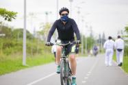 Ciclista en Ibagué