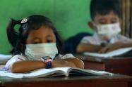 Regreso de niños a colegios en pandemia