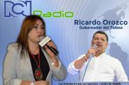 Gobernador Ricardo Orozco en diálogos con Claudia Aristizábal
