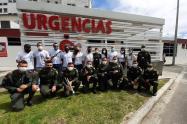 Dieron serenata a trajadores del hospital Federico Lleras Acosta