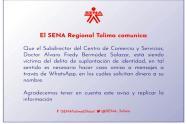 Advertencia Sena