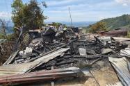 Familia quedó en la calle tras incendio estructural en San Juan de la China