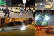 Pelea entre taxistas y conductores de Uber en Ibagué
