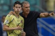 Carlos Queiroz y James - Selección Colombia