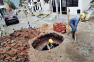 barrio Ricaurte  pozo en mal estado Ibal