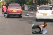 Accidente sobre la carrera Quinta
