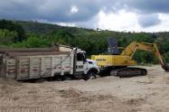 Material de arrastre en San Luis