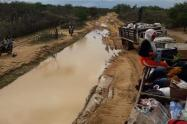 Vías de la Alta Guajira afectadas por lluvias