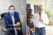 Alcalde Hurtado y exalcalde Jaramillo
