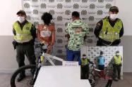 Capturaron tres personas y se recuperaron tres bicicletas hurtadas en El Espinal