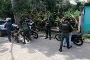 Policía llegó con el Escuadrón Móvil de Carabineros a Mariquita