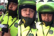 Policía sin Tapabocas