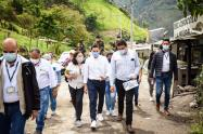 Alcalde Hurtado visita Cañón del Combeima
