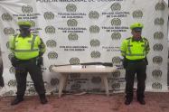 Escopeta hallada por la Policía Tolima