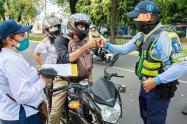 Se redujo la accidentalidad de motociclistas en Neiva durante el 2020