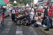 Semáforo dañado en la 25 con Quinta de Ibagué originó accidente con tres personas lesionadas