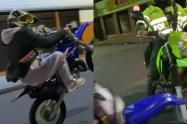 Conductor muy de malas hacía peligrosa maniobra y fue pillado por policías