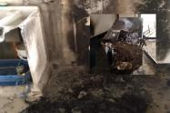 Dejaron cigarrillo prendido y casi se incendia apartamento Villa Cindy