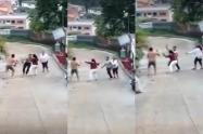 ¡Intolerancia! Dos sujetos se dieron machete y cuchillo en Rioblanco