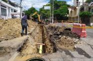Avance obras de alcantarillado de las Ceibas