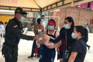 La Policía llegó a Riomanso con todas sus especialidades institucionales