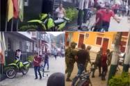Sujeto le dio machete al CAI y una moto de la Policía en Rioblanco – Tolima
