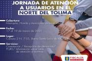 Fiscalía realizará primera jornada de atención a usuarios en Mariquita -Tolima