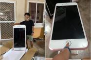 Mesa con forma de iPhone