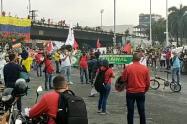 Durante la jornada de manifestaciones se realizaron por lo menos 23 bloqueos en la ciudad.