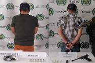 Con pistola y revolver capturaron dos sujetos en el norte del Tolima