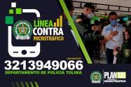 Policía puso a disposición de la ciudadanía una línea antidrogas en el Tolima