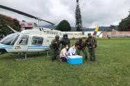 Más de 5.500 vacunas contra el COVID-19 han sido transportadas por la Fuerza Aérea en el Tolima