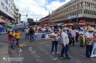 Marcha contra la justicia de Santiago Murillo y paro nacional en Ibagué