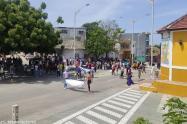 Plantón pacífico en Barranquilla