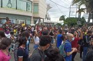 Manifestación calle 60 con Quinta