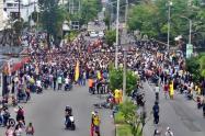 Manifestación en calle 60