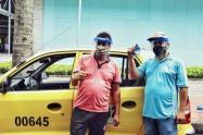 Vacunación de taxistas en Ibagué