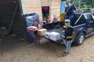 Ayudas humanitarias a familias afectadas por las lluvias en Ibagué