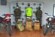 Incautaron 111 kilogramos de marihuana y dos motocicletas en Herrera, corregimiento de Rioblanco
