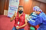 Vacunación Yeisson López, periodista judicial 2021