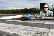 Se pronunció la Policía sobre el siniestro aéreo donde perdió la vida un capitán, instructor en la escuela de Aviación en Mariquita