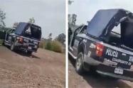 Camioneta de policías captados teniendo relaciones
