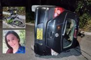 Borracho atropelló pareja de motociclistas y le causó la muerte a una mujer en el Cañón del Combeima