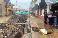 Labores del alcalde Hurtado bajo la lluvia
