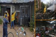 Al menos tres viviendas resultaron afectadas por  voraz incendio en Hobo
