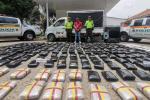 Incautación de 305 kilos de marihuana, las cuales eran transportados en la parte trasera de una camioneta