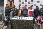 disidentes capturados en el Tolima