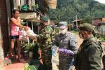 Fuerza pública entregó ayudas humanitarias en Planadas