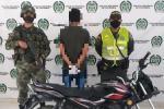 El capturado y motocicleta recuperada fueron dejados a disposición de la Fiscalía 61 local de Icononzo, por el delito de hurto