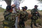 """Los militares llegaron hasta la 'segunda' del departamento con la difusión """"Yo no Pago, yo denuncio""""."""